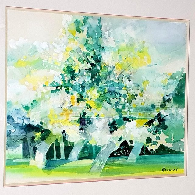 Camille Hilaire, 'Camille Hilaire - Green Trees - Original Signed Watercolor  ', ca. 1970, Galerie Philia