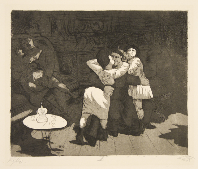 Otto Dix, 'Sailors in Antwerp', Galerie St. Etienne
