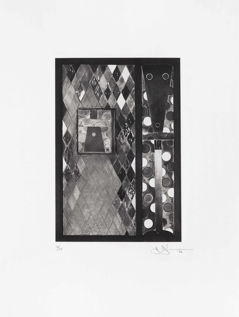 Jasper Johns, 'Bushbaby', 2006, Print, Etching with aquatint, on Chine collé to Hahnmühle Copperplate paper, Christie's