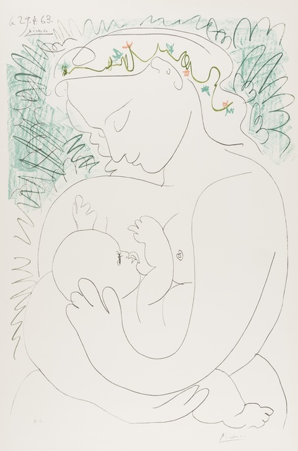 Pablo Picasso, 'Grande Maternite', 1973, Print, Lithograph printed in colours on wove paper, Forum Auctions