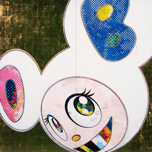 Takashi Murakami, 'DOB in Pure White (Pink & Blue)', 2013, Print, Offset lithograph in colors on smooth wove paper, Heritage Auctions