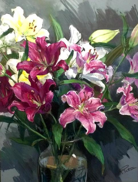 , 'Lillies,' Contemporary, Cross Gate Gallery
