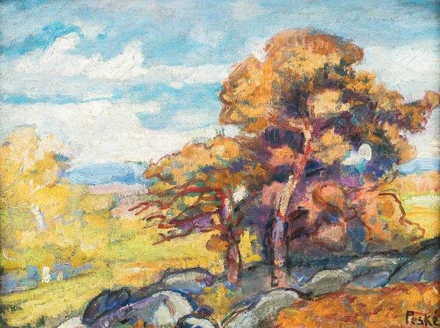 Henri Hayden, 'Nature morte aux tomates et au citron', executed in 1953, Leclere