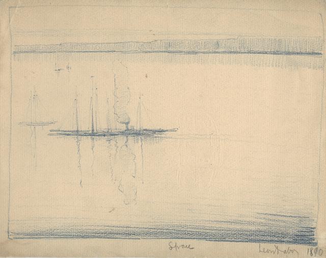 , 'Sail Boat and One Steam Ship,' 1890, Sullivan Goss