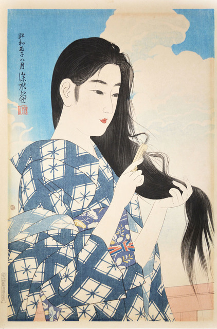 Itō Shinsui, 'Woman Combing Her Hair', august 1936, Ronin Gallery