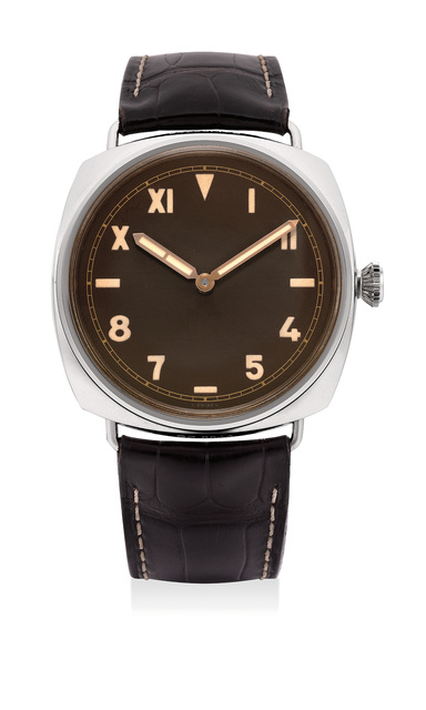 Panerai, 'A fine and rare limited edition white gold wristwatch with California dial, 3-day power reserve, guarantee and fitted presentation box, numbered 103 of a limited edition of 501 pieces', 2012, Phillips