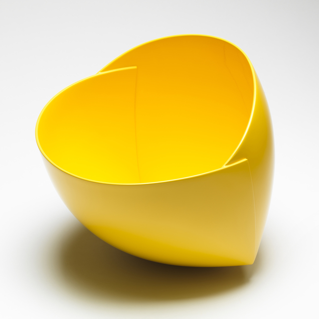 , 'Yellow Origami Vessel,' 2015, J. Lohmann Gallery