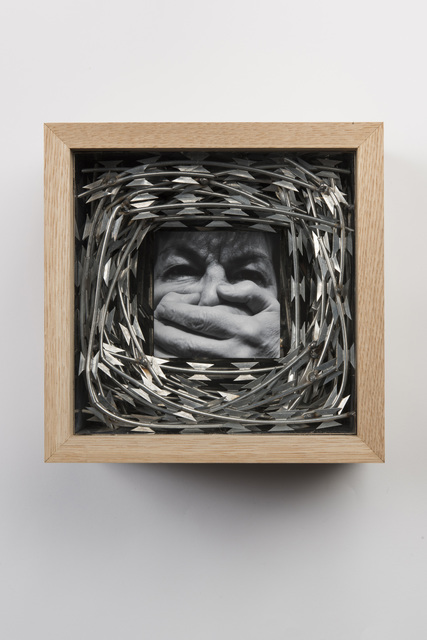 , 'Wooden and Stainless Steel Box with Face and Hands No.1,' 2018, Gazelli Art House