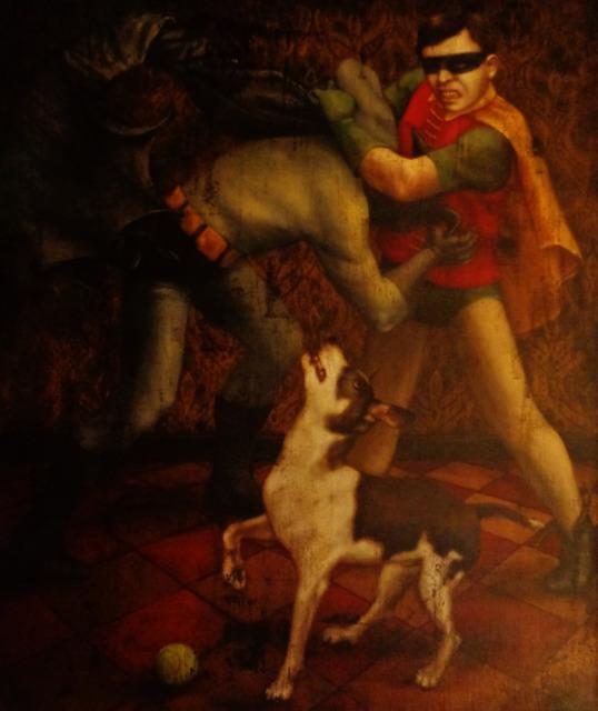 Jill McVarish, 'Batman and Robin and Spot', 2015, Painting, Oil on linen, McVarish Gallery