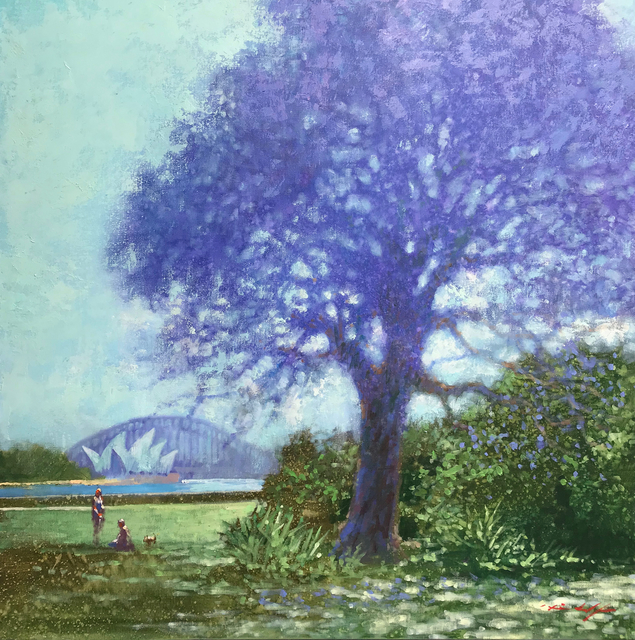 , 'Jacaranda, Botanical Gardens,' 2019, Wentworth Galleries