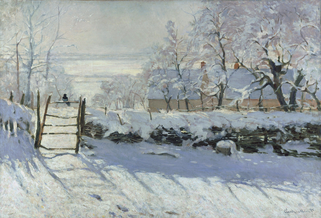 , 'The Magpie,' 1869, Legion of Honor