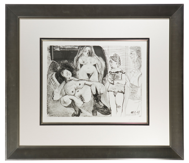 """Pablo Picasso, 'Untitled from the """"156 Series', 1971, Print, Aquatint and drypoint on paper under glass, John Moran Auctioneers"""