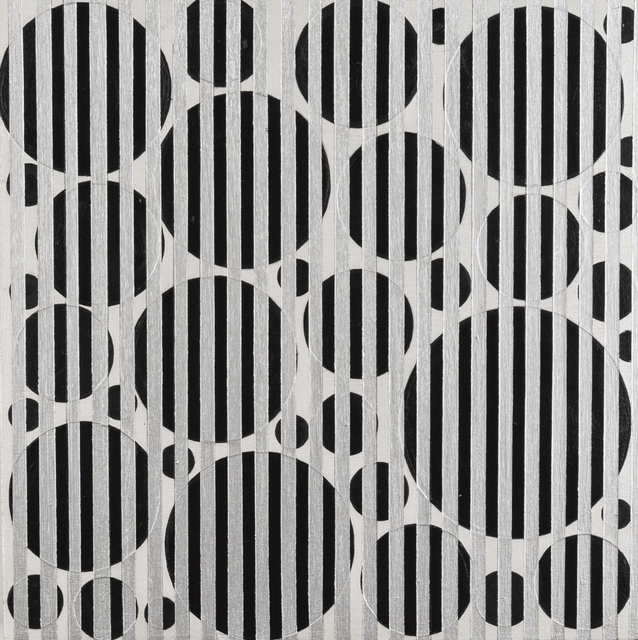 , 'Untitled (Black Dots and Silver Lines,' 2016, Ronald Feldman Fine Arts