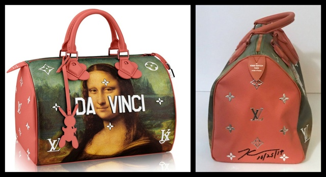 Jeff Koons, 'Hand Signed Mona Lisa Leonardo da Vinci Bag for Louis Vuitton', 2017, Alpha 137 Gallery