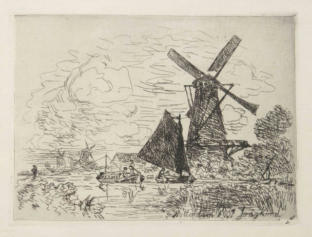 , 'Moulins en Hollande,' 1867, Hans den Hollander Prints