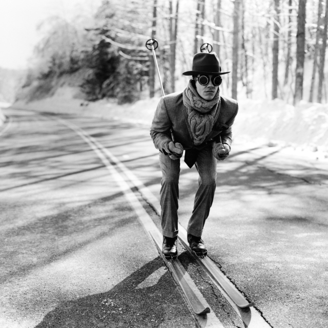 , 'Reed Skiing in Road, Lake Placid, NY,' 2008, Gilman Contemporary