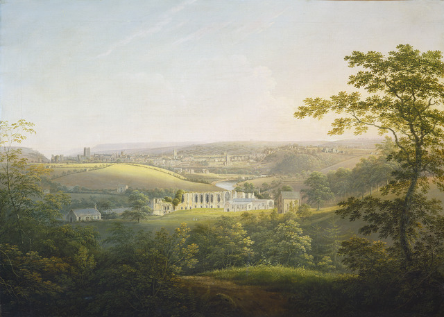 George Cuitt the Younger, 'Easby Abbey, near Richmond', ca. 1821/1854, Painting, Oil on canvas, National Gallery of Art, Washington, D.C.