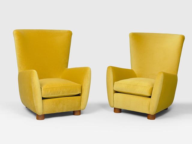 Jean Royère, 'Pair of Copenhague armchairs', 1955, Galerie Patrick Seguin