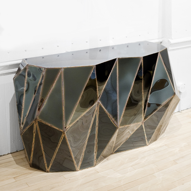 Julian Mayor, 'Rough Split Console', 2017, Design/Decorative Art, Varnished dark blue steel, Twenty First Gallery