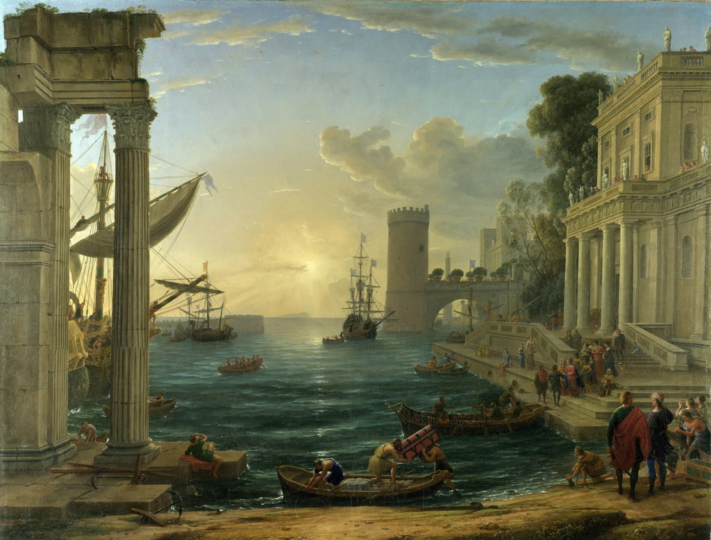 Claude Gellée, called Claude Lorrain, 'Embarkation of the Queen of Sheba,' 1648, The National Gallery, London