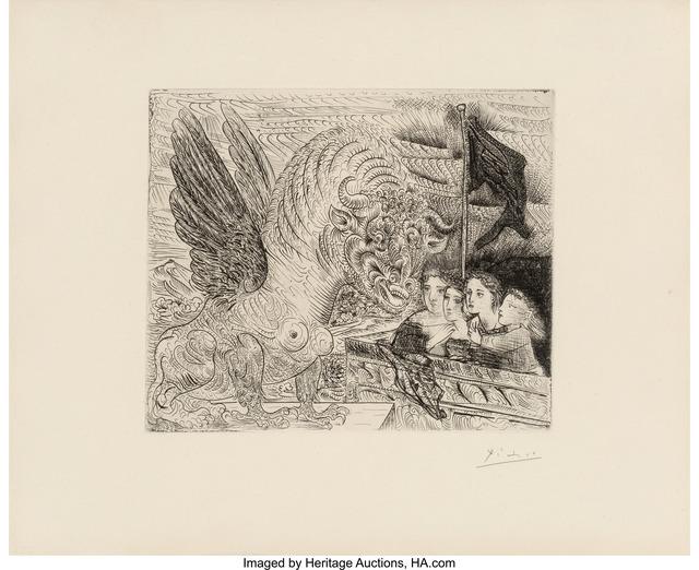 Pablo Picasso, 'Taureau ailé contemplé par quatre enfants, from La Suite Vollard', 1934, Heritage Auctions