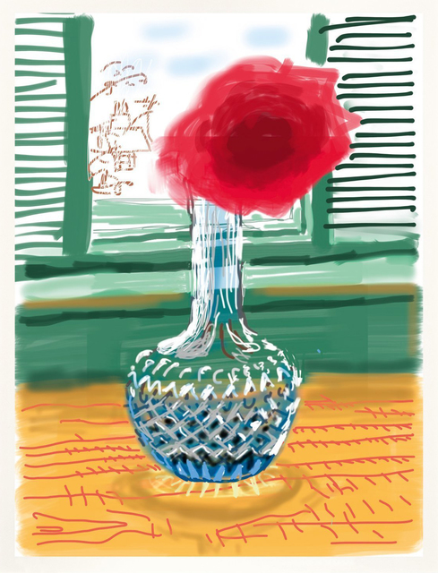 David Hockney, 'iPhone drawing 'No. 281', 23rd July 2010', 2019, Print, 8 color ink–jet print on cotton fibre archival paper, Kenneth A. Friedman & Co.