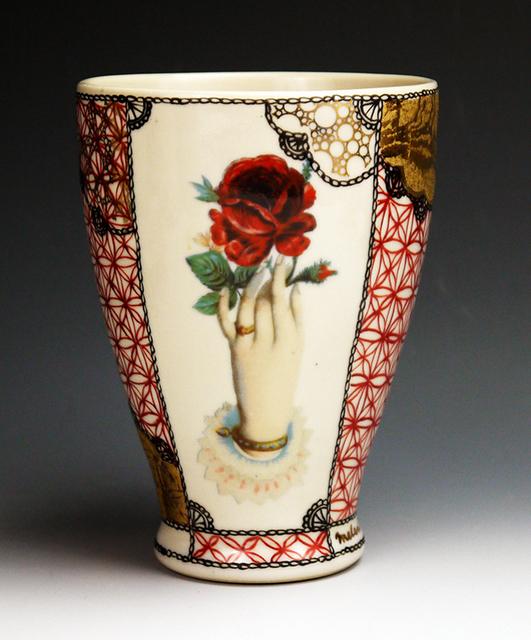 Melanie Sherman, 'Milch Tasse, handpainted porcelain with flowers', 2017, Cerbera Gallery