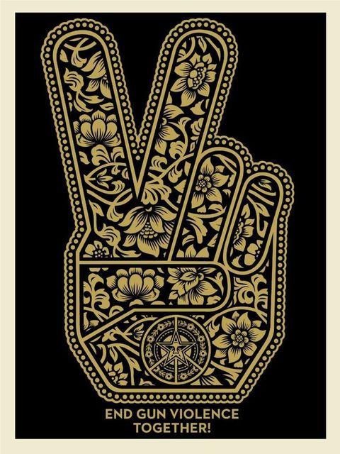 Shepard Fairey, 'End Gun Violence Together Peace', ca. 2019, Print, Speckletone paper, AYNAC Gallery