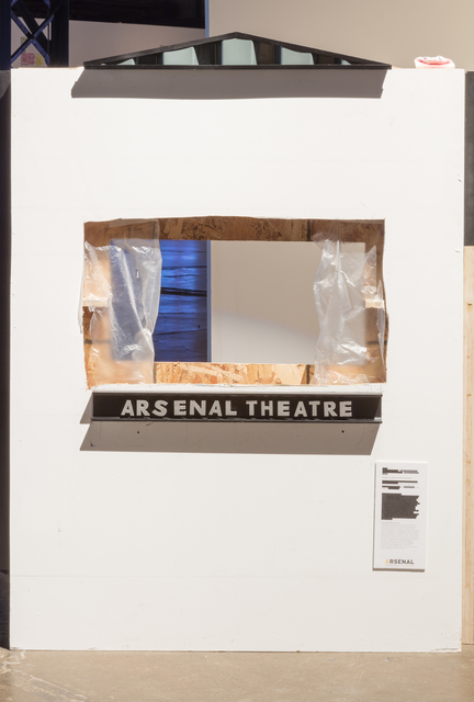 , 'Sockpuppet Theatre representing one of many cultural spaces where understandings and interpretations are hesitantly nominated for scrutiny with the possibility of both reconfiguring the opinions and values of audience members and also innovating new forms destined to appropriation for use in narratives advanced by external agents with higher order agendas.,' 2016, Arsenal Contemporary