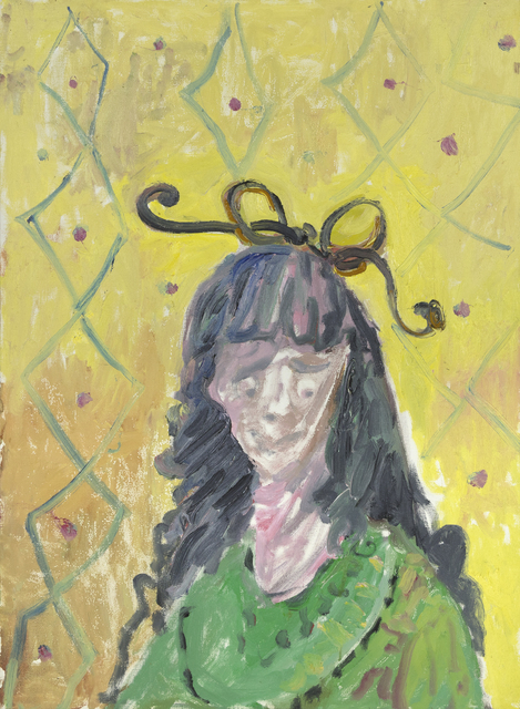 George Condo, 'Girl With Bow Tie', 1987, Heather James Fine Art