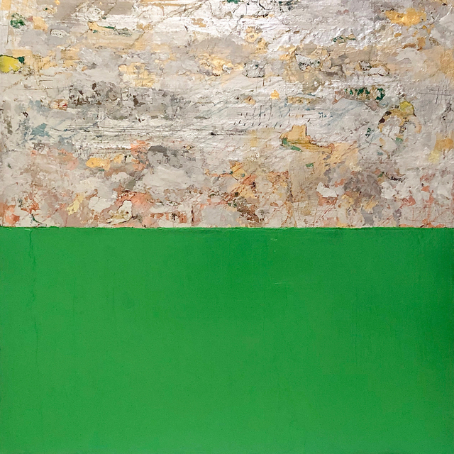 Takefumi Hori, 'Silver and Color 14 (Metallic Green)', 2018, Arden Gallery Ltd.