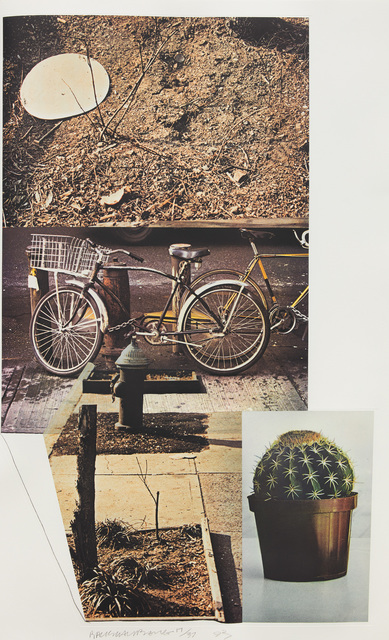 Robert Rauschenberg, 'Street Sounds West', 1993, Print, Photogravure in colors with Chine collé, on Gampi paper, with full margins., Phillips
