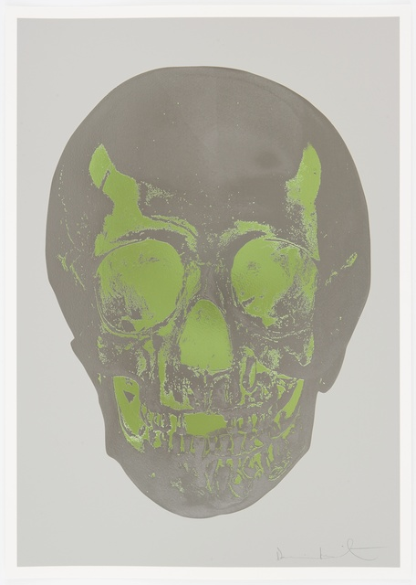 Damien Hirst, 'Dove Grey Gunmetal Leaf Green Skull ', 2012, Paul Stolper Gallery