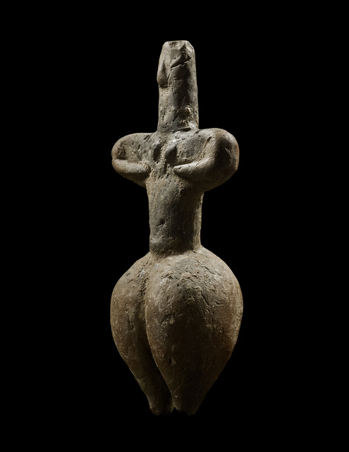 ", 'ANCIENT THESSALIAN ""IDOL"",' ca. 6th millennium B.C., Phoenix Ancient Art"