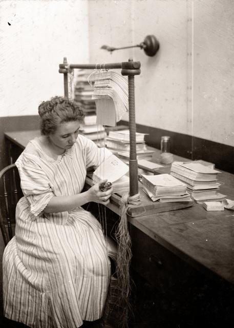, 'Boston Public Library Bindery, Mary Dornan,' ca. 1926, Panopticon Gallery