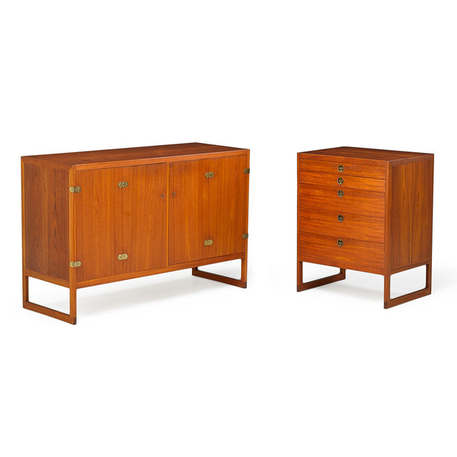 Börge Mogensen, 'Two cabinets, Denmark', 1950s, Rago