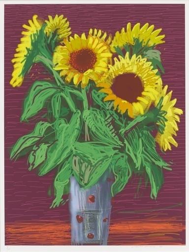 David Hockney, 'Sunflowers', 2010, Maddox Gallery
