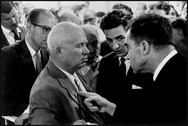 , 'Moscow. Nikita KHRUSHCHEV and Richard NIXON,' 1959, Magnum Photos