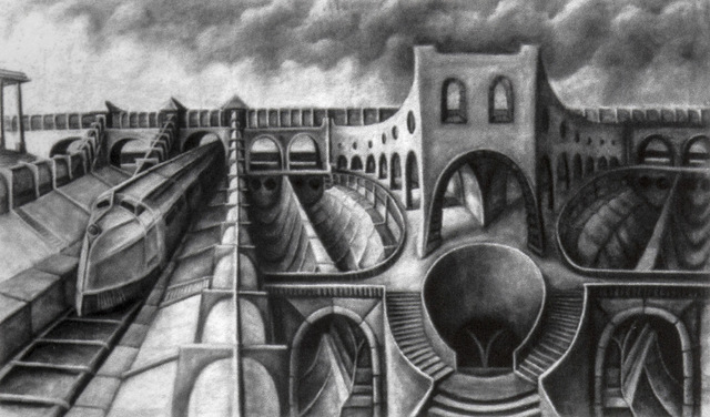 , 'The Train Station,' 1987, HG Contemporary