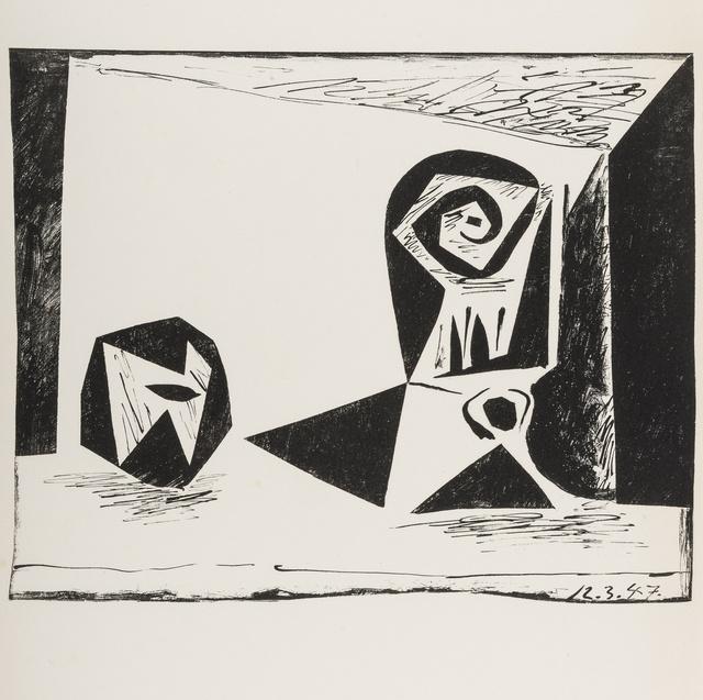 Pablo Picasso, 'Composition au verre a pied (Bloch 431; Mourlot 77)', 1947, Forum Auctions
