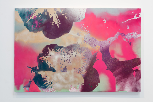 , 'Pansies (gold, pink, purple, green),' 2016, Erin Cluley Gallery