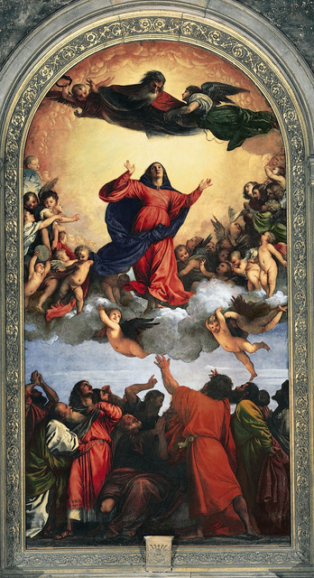 Titian, 'Assumption of the Virgin', 1516-1518, Art History 101