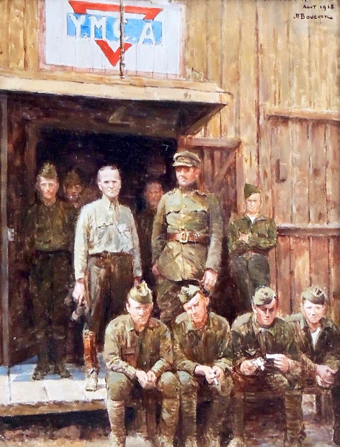 Joseph Felix Bouchor, 'American Soldier YMCA', 1918, The Illustrated Gallery