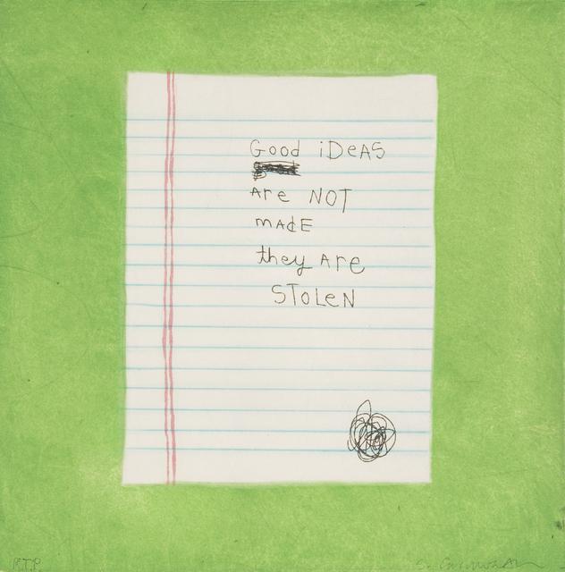 , 'Good Ideas,' 2006, Tandem Press