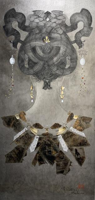 Christian de Laubadère 麓幂, 'Neck painting with mica&lace', 2019, ArtCN