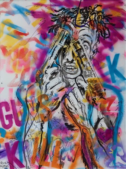 George Gittoes, 'Lil' Dave', 2018, Aaron Galleries