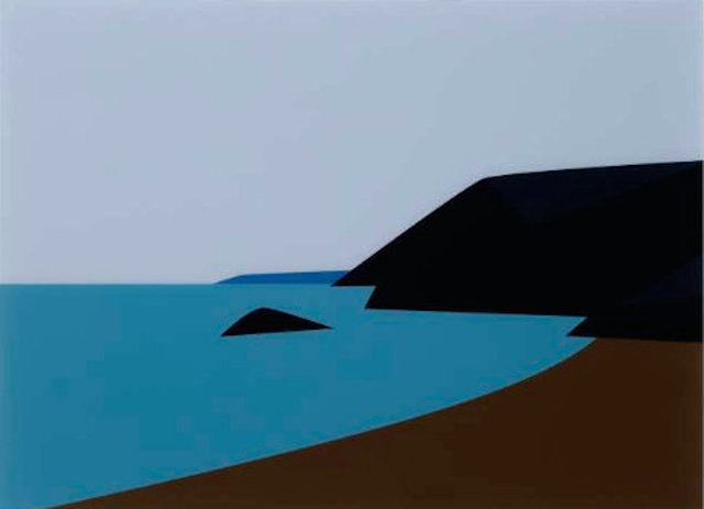 Julian Opie, 'Cornish Coast 2.: Lantic Bay', 2017, Galerie Hafenrichter