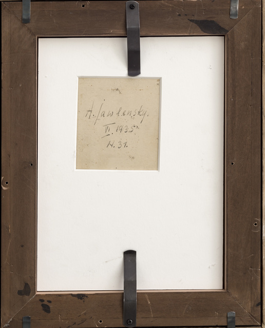 Alexej von Jawlensky, 'Meditation', 1935, Painting, Oil on line-finish paper on cardboard, Galerie Thomas