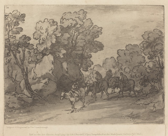 Thomas Gainsborough, 'Wooded Landscape with Riders', mid 1780s, National Gallery of Art, Washington, D.C.