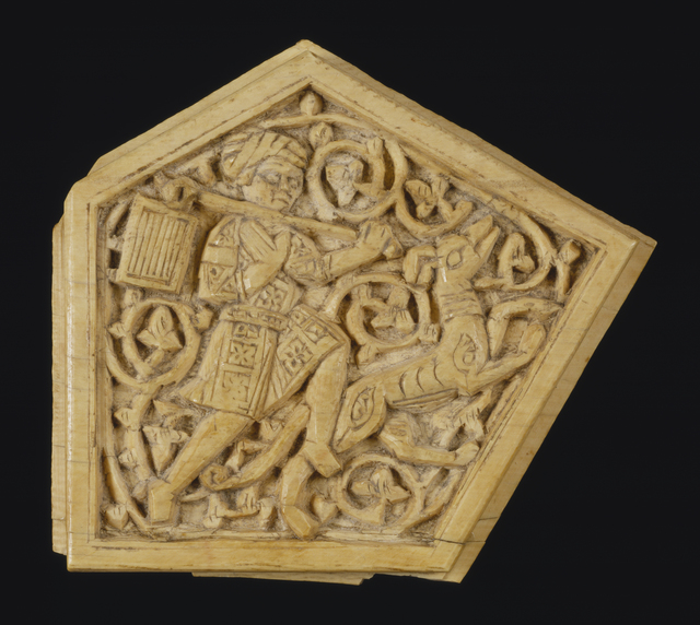 'Plaque with Figural Scene', 11th-12th century, Walters Art Museum